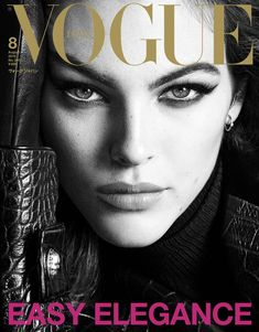 Vittoria Ceretti lands two digital covers for Vogue Japan's August 2019 issue. Photography duo Luigi & Iango capture her in black and white closeup shots. Vogue Magazine Covers, Fashion Magazine Cover, Fashion Cover, V Magazine, Vogue Covers, Fashion Editor, Editorial Fashion, Fashion Models, V Shape Face