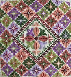 Με περισσεύματα κλωστων Cross Stitch Cushion, Cross Stitch Art, Cross Stitch Flowers, Cross Stitch Designs, Cross Stitching, Cross Stitch Embroidery, Cross Stitch Patterns, Hand Embroidery Patterns Flowers, Palestinian Embroidery