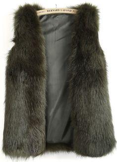 Dark Fur Vest
