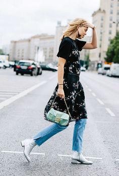 6 New Ways to Wear Kick-Flare Jeans via @WhoWhatWearUK