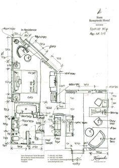Interior Design Layout, Interior Sketch, Kempinski Hotel, Plan Sketch, Hotel Room Design, Hotel Interiors, Room Planning, Hotel Suites, Plan Design