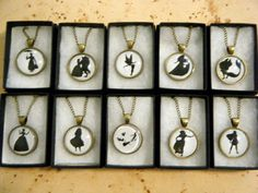 Disney Silhouette Cameo Necklace Collection WANT ALL OF THEM!!!!