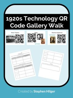A free, student-centered lesson where students scan QR codes to watch videos.  Students explain the original intent of 1920s invention and the technology's unintended impact on society.