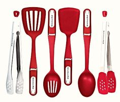 Red Kitchen Aid Kitchen Utensils: recently got these and love them;