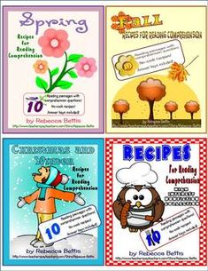 This collection of recipes AND reading comp activities from Rebecca Bettis is AWESOME!  What a fun way to boost comprehension!  $ - but worth it!