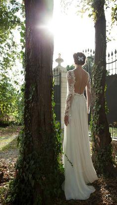 Vestido de noiva de renda em manga longa - Vestidos de Noivas