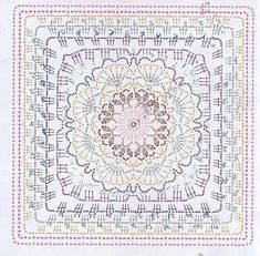 Crochet Stitches Free, Crochet Flowers, Beach Mat, Outdoor Blanket, Arts And Crafts, Tapestry, Knitting, Pattern, Granny Squares