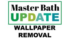 Our Master Bathroom had floral wallpaper everywhere and it made the whole space feel dated and old. I needed to remove it, but. Removing Old Wallpaper, Old Paper, Master Bath, Words, Easy, Horse
