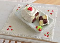 Little Things By Anna: Checkerboard Cake With Fresh Raspberries