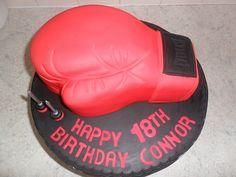 red 18th boxing glove birthday cake, via Flickr.