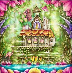 Art by @cherrycolours Bom dia pessoal! Que tal esse colorido? Eu tô apaixonada, tá tudo tão lindo!!!! ❤❤ #colorindomeujardimencantado #LoveIn30Languages #mycreativeescape #mandala #johannabasford #secretgarden #FlorestaEncantada #enchantedforest #adultcoloringbook #jardimdosbroder #fabercastell #maped #staedtler #mapedcolorpeps #fabercastellbrasil #polychromos #livrocoloriramo #parkyoungmi #hannakarlzonsommarnatt #oceanoperdi...