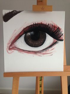 Don't you just love days off. My days off are far more fulfilling then days at work. #eye #acrylic paint #fun #brown