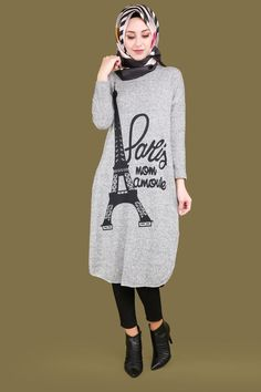 Paris Triko Tunik Desen 8 Gri Ürün kodu: BİSS1007 --> 29.90 TL