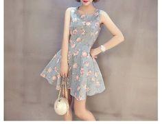 Cloud Nine Cutout Back Floral Skater Dress | YESSTYLE