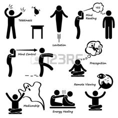 Psychic Power Sixth Sense Stick Figure Pictogram Icon photo