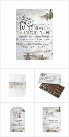 Birch Bark Rustic Wedding Collection