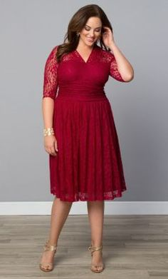 Check out the deal on Swinging Symphony Dress-Sale! at Kiyonna Clothing