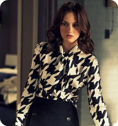houndstooth blouse...