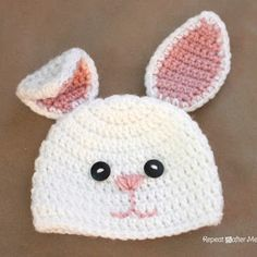 Repeat Crafter Me: Crocheting bunny hat