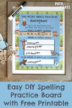 With twins in fourth grade and my son in second grade, I often feel like we are drowning in spelling word practice. My kids hate writing spelling words over and over on lined paper (and I can't really blame them!) Somehow, dry erase boards make spelling practice a lot more fun. These spelling boards combine […]