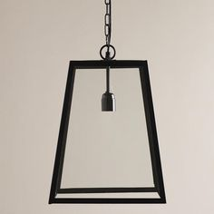 One of my favorite discoveries at WorldMarket.com: Four-Sided Glass Hanging Pendant Lantern