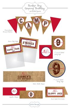 printables for camping theme
