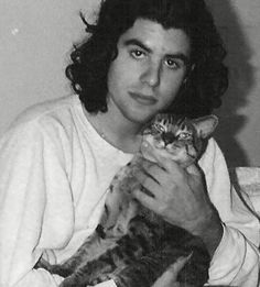 Sage Stallone with kitty Tommy Morrison, Sage Stallone, Silvester Stallone, Rocky Balboa, Baby Kittens, All About Cats, Cat People, Black And White Portraits, Vintage Cat