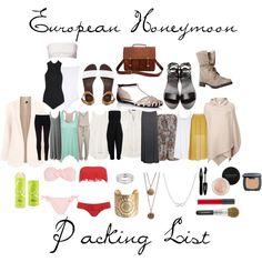 European Honeymoon Packing List