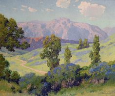 "Maurice Braun (1877-1941) - Mountain Lilac. Oil on Canvas. Circa 1925. 25"" x 30""."