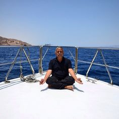Promoting the #Yoga interests of #India even on a luxury boat in the #RedSea! #GrabYourDream #TravelAdventurer #Jordan #travel #adventure