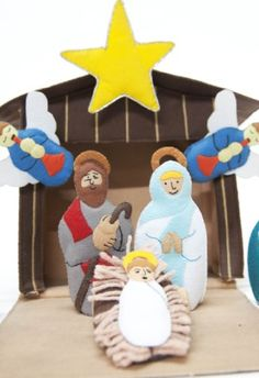 Handmade Felt Nativity set