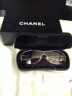 NIB CHANEL 4073B c124/8G Silver Sunglasses
