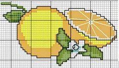 Frutas, Verduras e legumes Cross Stitch Designs, Cross Stitch Patterns, Crochet Patterns, Cross Stitching, Cross Stitch Embroidery, Cross Stitch Fruit, C2c Crochet, Handmade Crafts, Pixel Art