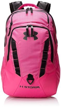 Under Armour Women's Recruit Backpack, Rebel Pink, One Size Rucksack Bag, Backpack Bags, Laptop Backpack, Pink School Bags, Under Armour Backpack, Girl Backpacks, Purple Backpacks, Shoulder Strap Bag, Zipper Bags