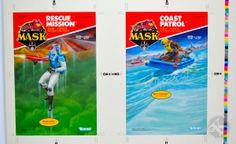 Cardback proof sheet of Rescue Mission and Coastal Patrol adventure packs 1980s Tv, Revenge, Cover Art, Coastal, Challenges, Fan Art, Adventure, Random, Toys