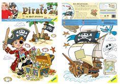 FunToSee Wandsticker Wandtattoo Piraten Kinderzimmer