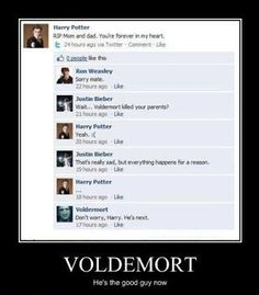 Harry Potter's Facebook conversation