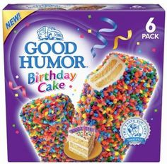 Good Humor Birthday Cake Ice Cream Bar 6 pack from Target. Saved to Food. Shop more products from Target on Wanelo. Cake Bars, Dessert Bars, Dessert Food, Dessert Ideas, Good Humor Ice Cream, Ice Cream Birthday Cake, Novelty Birthday Cakes, Snack Recipes, Snacks