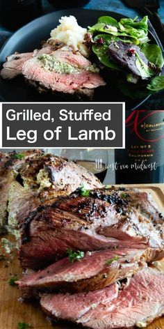 This No fail Stuffed Grilled Leg of lamb recipe is ideal for easy holiday entert. - This No fail Stuffed Grilled Leg of lamb recipe is ideal for easy holiday entertaining! Lamb Recipes, Meat Recipes, Cooking Recipes, Healthy Cooking, Drink Recipes, Yummy Recipes, Recipies, Grilled Leg Of Lamb, Grilled Food