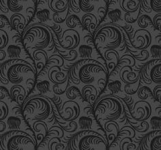 Genuine Flock Wallpaper Paradiso - Black - 99020 Genuine flock wallpaper/Contemporary feather trail design/Decadent design in matt black with black flock/Suitable for all areas except high steam/High quality finish per roll Flock Wallpaper, Plant Wallpaper, Feature Wallpaper, Flocking, Detail, Anatomy, Feather, Lounge, Contemporary