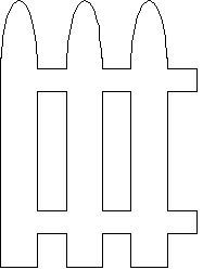 picket fence - rounded - my variation of the picket fence template