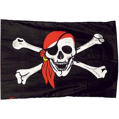 jolly roger pirate flag. Its the wrong color but without the extra stuff its generally the right shape