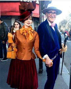 Elderly-Couple-Fashion-Britt-Kanja Berlin Fashion, Live Fashion, Fashion Photo, Gypsy Fashion, Estilo Dandy, Style Photoshoot, Style Royal, Elderly Couples, Dandy Style