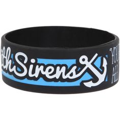 Sleeping With Sirens Forever Rubber Bracelet | Hot Topic ($9.99) ❤ liked on Polyvore featuring jewelry, bracelets, accessories, wristbands, rubber bracelets, rubber bangles and rubber jewelry