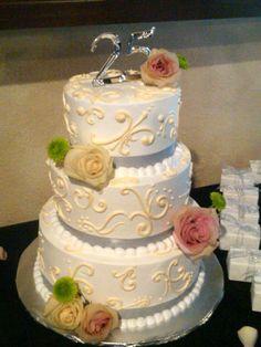25th Anniversary Wedding Cake