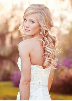 curly wedding hairstyles with veil - Google Search