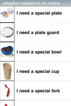 SmallTalk Dysphagia ($0.00) Designed for people with dysphagia, an impairment of the ability to swallow, SmallTalk Dysphagia provides a vocabulary of pictures and icons that talk in a natural human voice. Repinned by SOS Inc. Resources pinterest.com/sostherapy/.