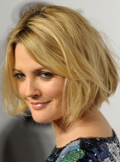 Celebrity Blonde Wavy Bob Haircuts - Shaggy Bob Hairstyle Ideas--Love this look--in my natural red, of course!
