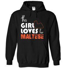 This Girl Loves Her Maltese - #tshirt bemalen #grey sweater. LIMITED TIME PRICE => https://www.sunfrog.com/Pets/This-Girl-Loves-Her-Maltese-lzuuy-Black-15014106-Hoodie.html?68278
