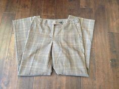 Ann Taylor LOFT Women Ann Brown Plaid Dress Pants Size 6 #AnnTaylorLOFT #DressPants